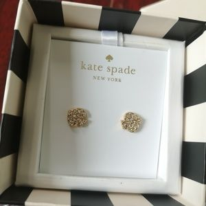 Kate spade goldtone signature spade stud earrinngs